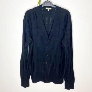Authentic Burberry Silk/Wool Classic Cardigan